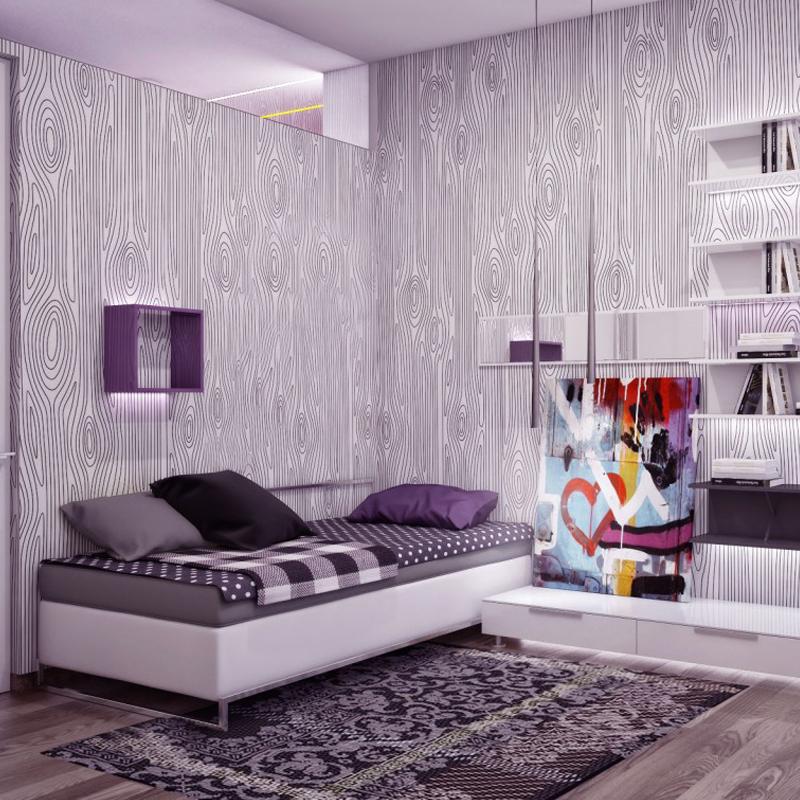 tips memperindah kamar dengan wallpaper apro interior